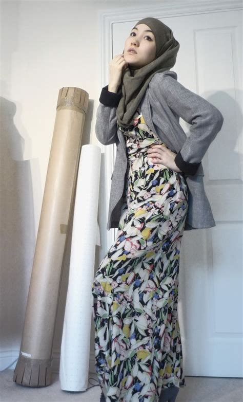 Vintage maxi dress blazer | Hijab Style - Muslim Fashion | Pinterest | Ray bans Chic and Summer
