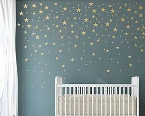wall decal amazing star decals for walls decoration vinyl With amazing look with moon and stars wall decals