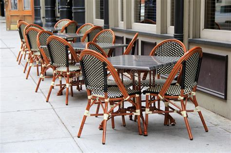 gorgeous cane chairs  tables  restaurant stock