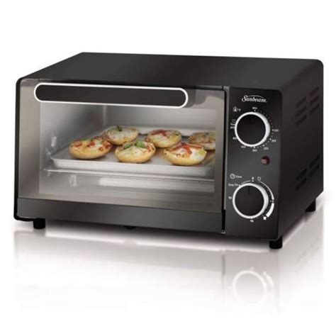 Sunbeam Toaster Oven by Sunbeam Tssbtv6001 4 Slice Toaster Oven Black Sears