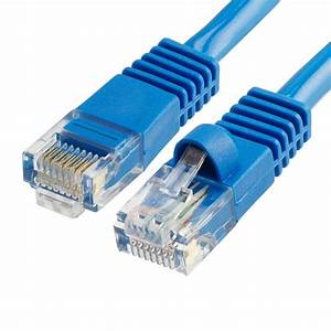 Rj45 Cat5e Ethernet Lan Network Blue Cable With Molded