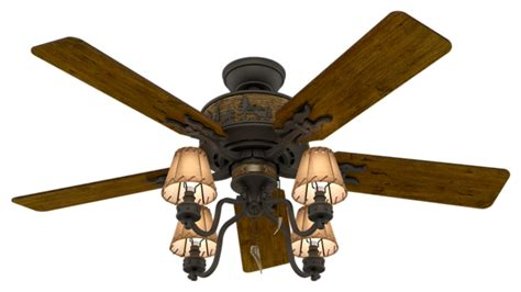52 quot bronze brown ceiling fan adirondack 59006 hunter fan