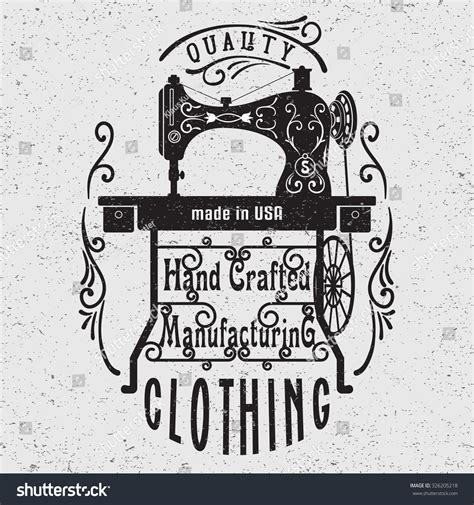 hand drawn typography poster vintage sewing stock vector 326205218 shutterstock
