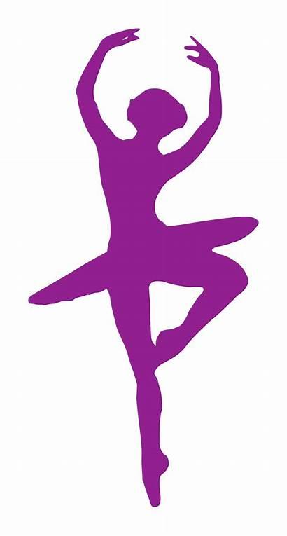 Ballerina Silhouette Clipart Clip Dancer Bailarina Ballet