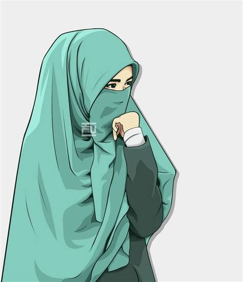 hijab vector hijab niqab hijab cartoon anime muslim