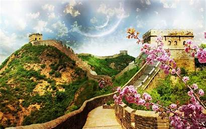 China Wall Wallpapers Desktop Background Backgrounds Spring