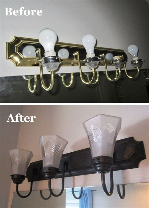 How To Change A Bathroom Light Fixture by How To Change Brass And Chrome Light Fixtures To