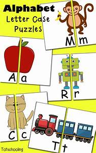free alphabet letter case puzzles letter case and With letter puzzles for toddlers