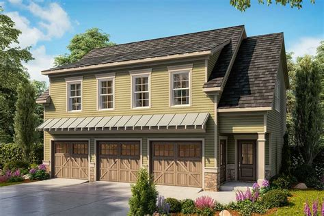 car carriage house plan   upstairs bedrooms dk architectural designs house