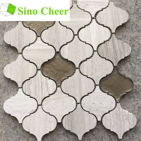 china glass mix lantern mosaic tile backsplash
