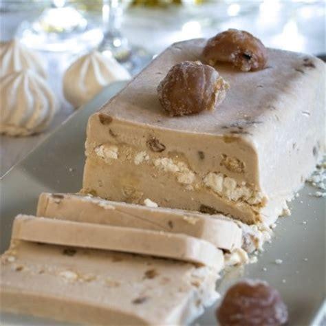 hervé cuisine buche marron recette de bûche glacée aux marrons et meringue jujube