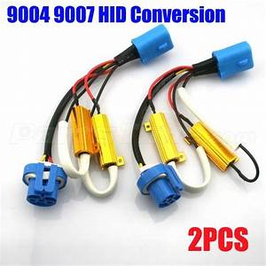 2x 9004 9007 Wiring Harness Adapter Hid Conversion Kit