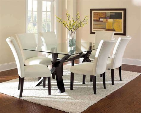 glass dining table  modern kitchen appearance home decor