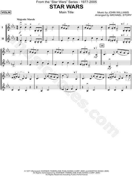"Beginner star wars theme song violin sheet music. ""Star Wars (Main Theme) - Violin Duet"" from 'Star Wars' Sheet Music in Eb Major - Download ..."