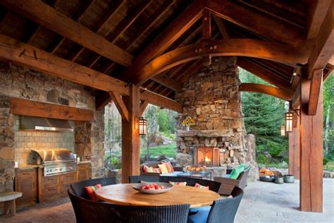 startling rustic patio designs  enjoy  nature