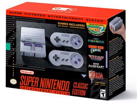Nintendo Reveals Snes Classic Edition A Mini Super