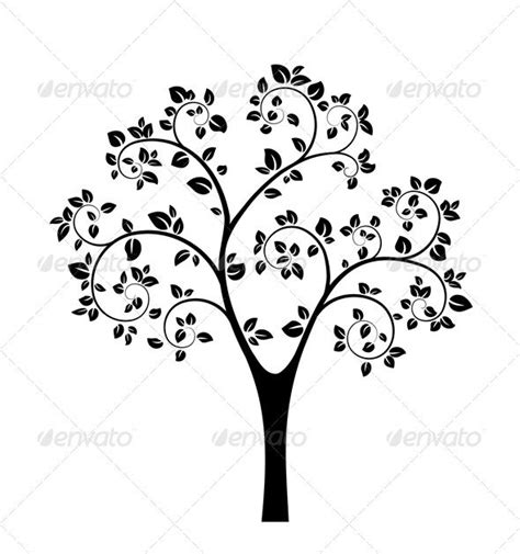 Tree Template Black And White by Stock Vector Graphicriver Black Vector Tree 4620130