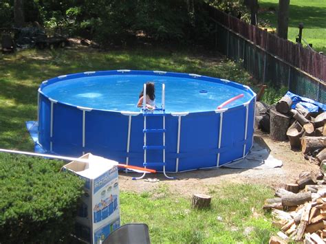 Endearing Blue Round Hard Plastic Swimming Pools