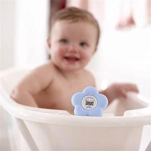 Thermomètre bébé de bain et chambre bleu de Avent philips
