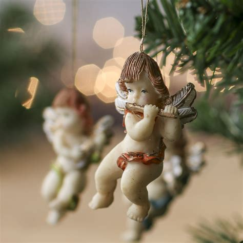 cherub christmas ornaments princess decor