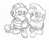Luigi sketch template
