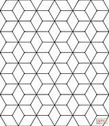 Tessellation Rhombus Coloring Pages Tessellations Printable Patterns Geometric Pattern Colouring Mandala Escher Supercoloring Dot Paper sketch template