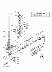 2006 later yamaha lower casing drive 1 parts for 25 hp With diagram of 2006 and later 90tlr yamaha outboard starting motor diagram