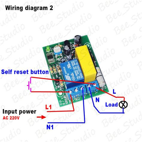 ac 220v delay timing timer time counter switch delay turn relay module board ebay