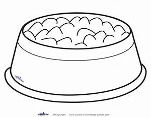 Free Coloring Pages Of Dog Bone In Bowl