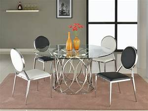 Courtney 5Pc Glass Dining Table 4 Lisa Chairs By Chintaly