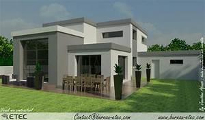 Maison Moderne Toit Plat : maison toit terrasse chevigny ~ Nature-et-papiers.com Idées de Décoration