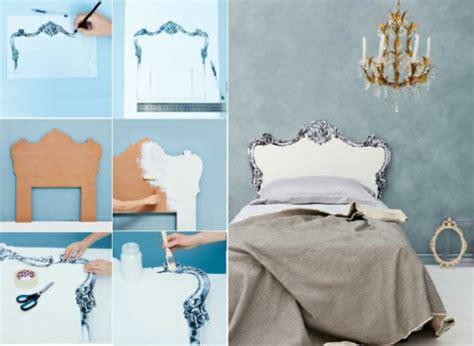 schlafzimmer deko selber machen kreative deko idee im schlafzimmer kopfteil zum selbermachen
