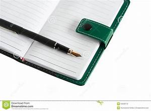 Pen On Notebook Stock Photo - Image: 53533110