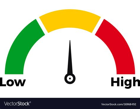 Speed Meter Scale Icon Royalty Free Vector Image