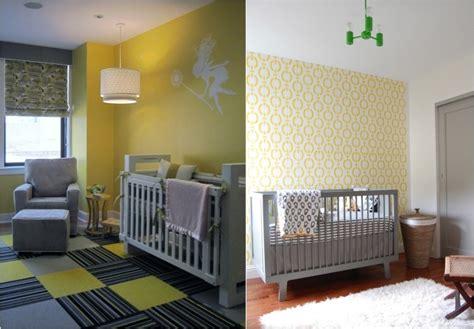 chambre ado vert et gris décoration chambre bébé en 30 idées créatives pour les murs