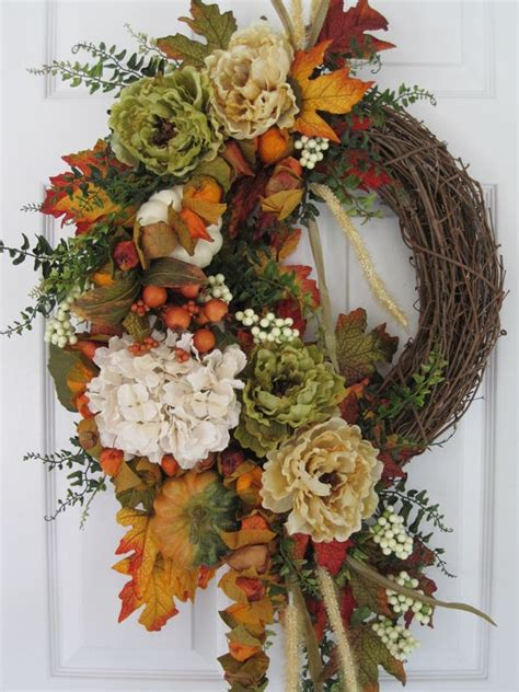a fall wreath fall tapestry tuscan country french fall all season large wreath