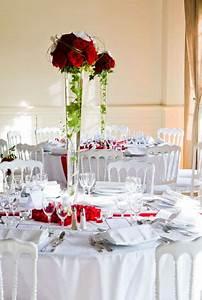 Décoration Mariage Rouge Et Blanc : mariage chic en rose et blanc ~ Melissatoandfro.com Idées de Décoration