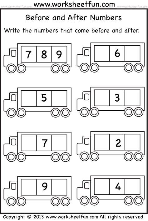 before and after numbers 5 worksheets free printable worksheets worksheetfun