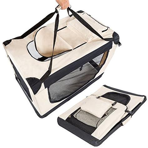 gabbia per cani aereo tectake borsa per box gabbia pieghevole auto