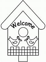 Coloring Pages Spring Birdhouse Colouring Bird Printable Adult Print Welcome Printing Activities Coloringpagebook Popular Advertisement Coloringhome Instructions Icbn sketch template
