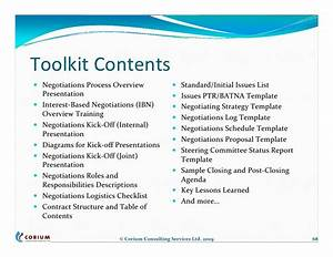 outsourcing contract negotiations structure process tools With negotiation contract template