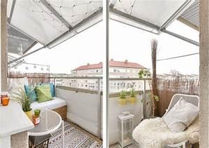40 ideen fur attraktive balkon gestaltung fur wenig geld With markise balkon mit wandgestaltung holz tapete