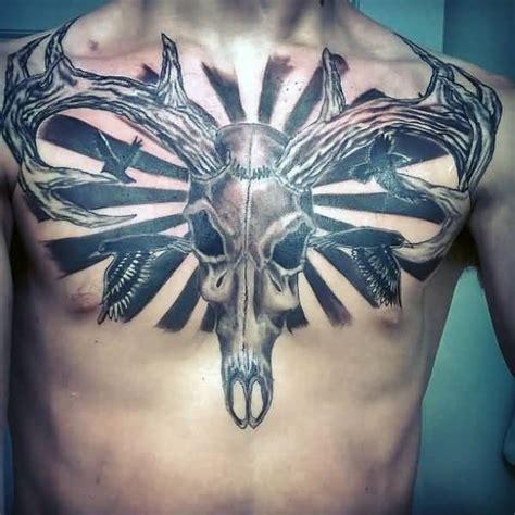 deer skull tattoos pictures  meanings