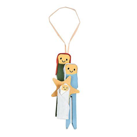 clothespin nativity christmas ornament craft kit