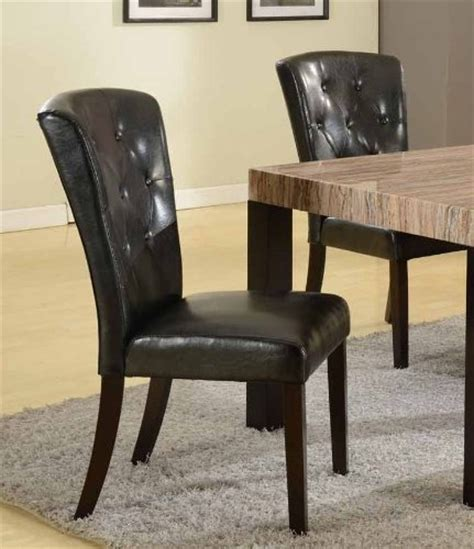 roundhill big and thick black button back dining parsons
