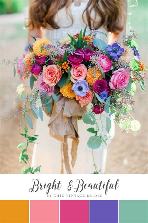 10 Beautiful Summer Wedding Colour Palettes Chic Vintage