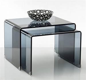 Table Basse Gigogne Verre : les tables basses verre mobilier canape deco ~ Teatrodelosmanantiales.com Idées de Décoration