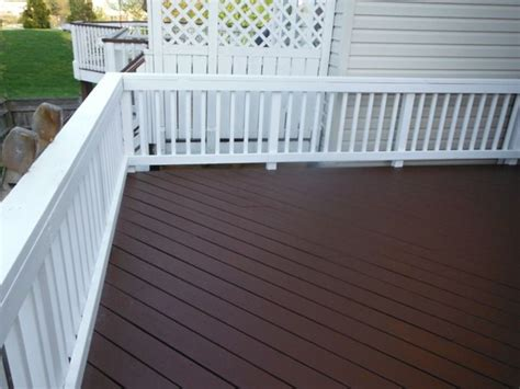Restaining A Deck With Solid Stain by Behr Solid Deck Stain Colors Brown Hairs