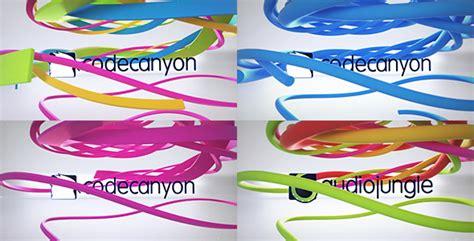 clean ribbon logo reveal by donvladone videohive