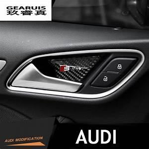 Accessoire Audi Q5 : 4 st cke kohlefaser t rinnenschale t rklinke dekoration ~ Melissatoandfro.com Idées de Décoration